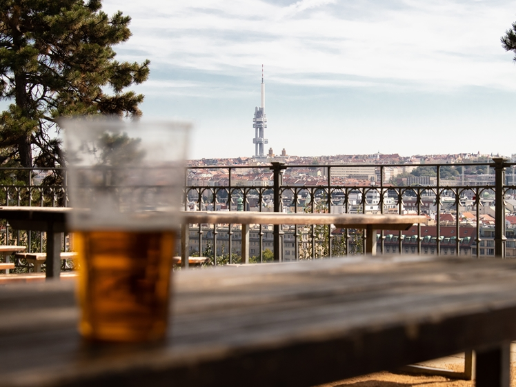 Beer Garden with a view in Letna Park Prague