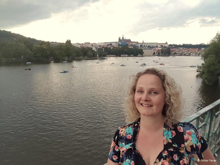 Boats in the Vltava River Prague
