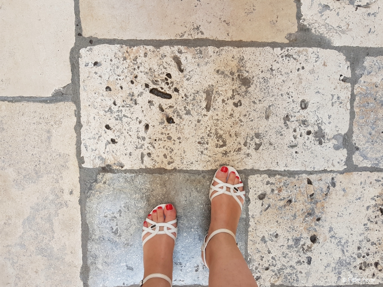 Beautiful stone floor of Dubrovnik old town