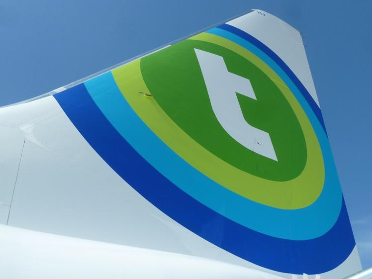 Tail fin Transavia airplane