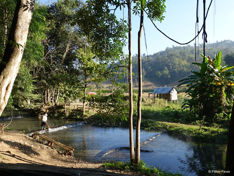 Peaceful hot spring near Pai Thailand