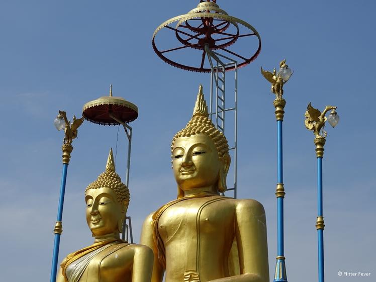 Two Golden Buddhas at Wat Bang Nam Phueng Nok on Bang Kachao