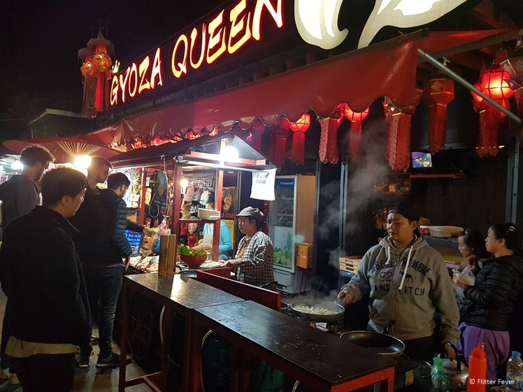 Gyoza Queen food stall at Pai Night Market