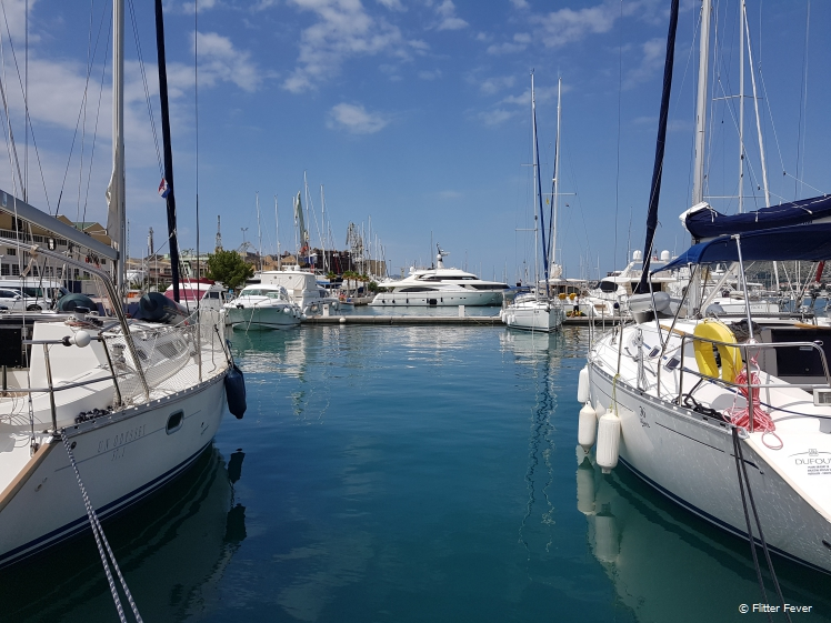 Trogir Marina is full of nice ships, luxury yachts and small boats Croatia
