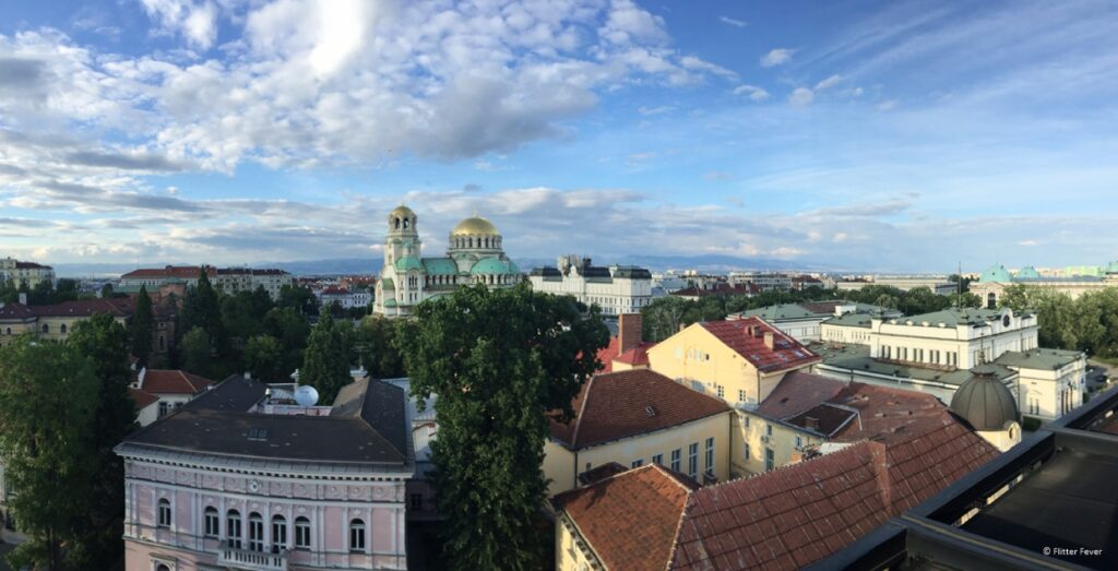 View from Sense Rooftop Bar Sofia