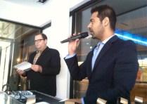 Steve & Jatin announcing TCFF winners