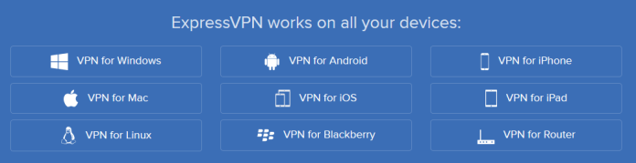 ExpressVPN OS support