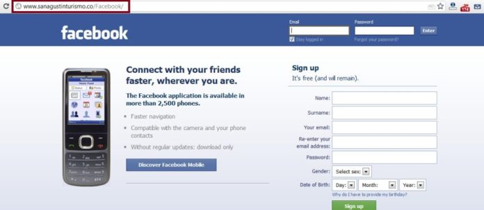 facebook phishing site