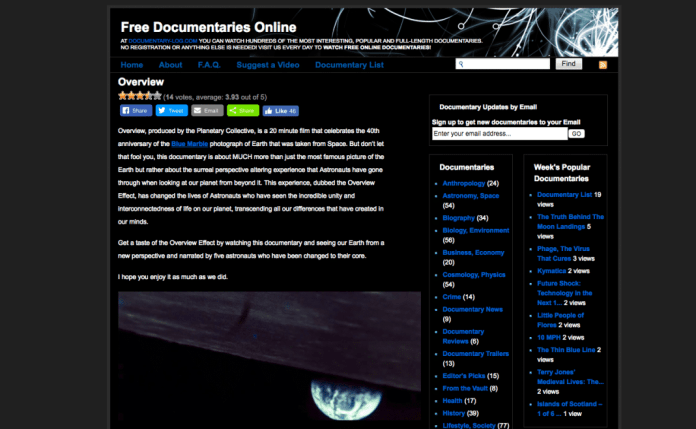 DocumentaryLog's top pick Overview