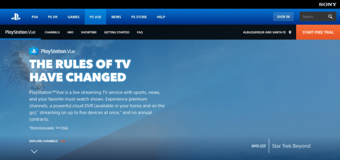 PlayStation Vue over-the-top TV