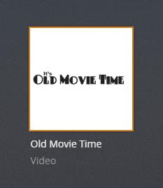 oldmovietime plex channel screenshot