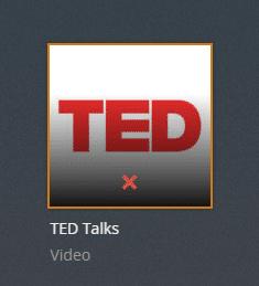 Ted Talks plex channel screenshot