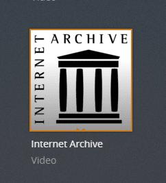 internet archive plex channel screenshot