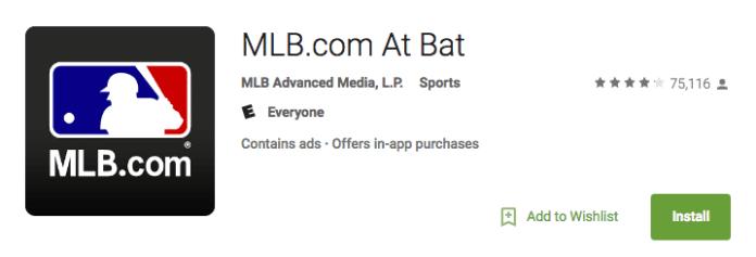 MLB At Bat Android app
