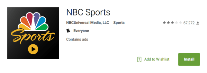 NBC Sports Android app