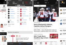 NHL app screenshots