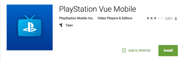 PlayStation Vue on Android