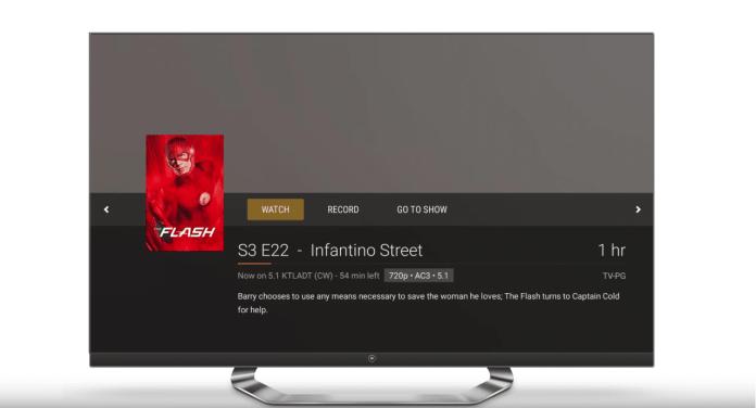 watch tv plex menu
