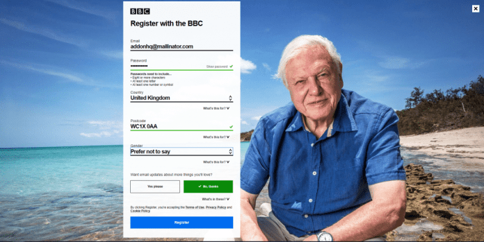completed registration bbc iplayer