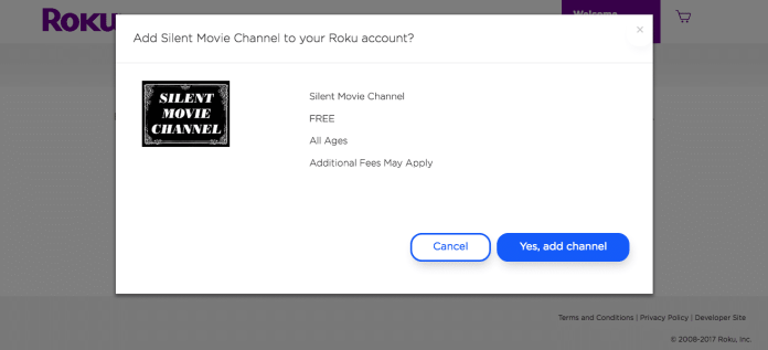 Install private channel on Roku