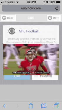 NFL streaming on T-mobile