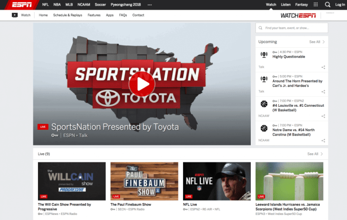 watchespn amazon fire tv cable cord-cutting alternative streaming live sports
