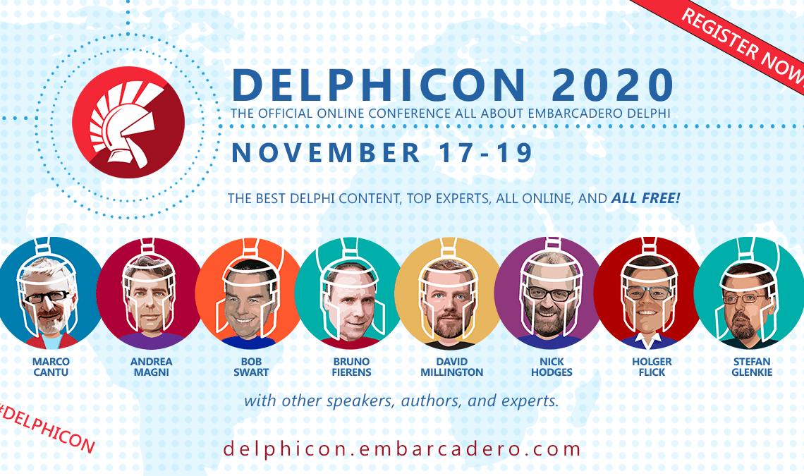 DelphiCon 2020: World-wide Delphi conference starting Nov 17!