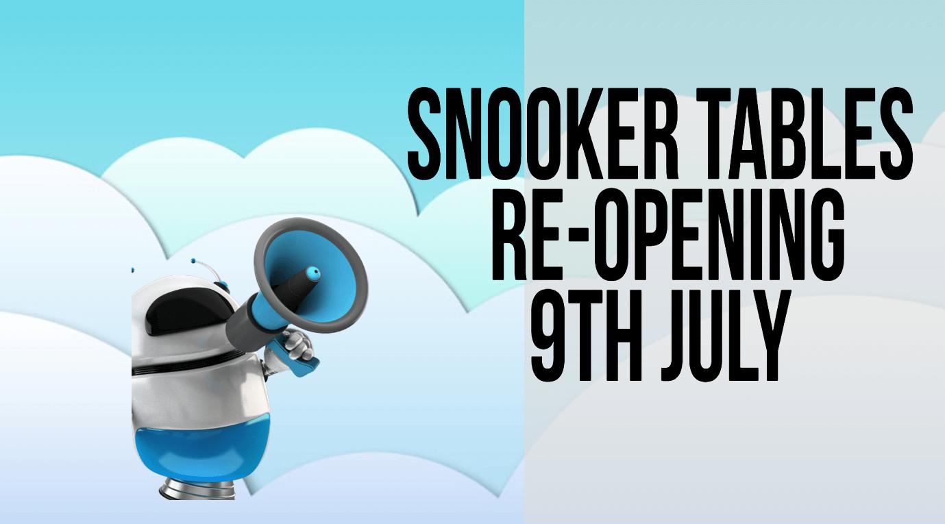 snooker reopening