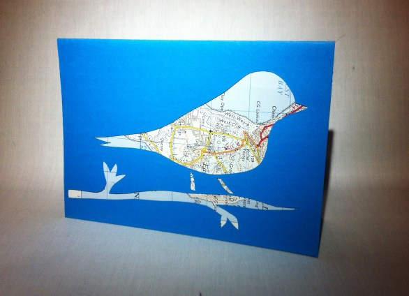 Paper cut bird cards £1.50 plus 50p postage