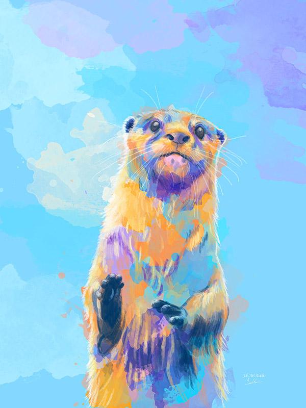 Mister Otter Digital Painting