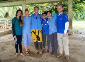 UCI students with Dr. Ben in Quebrada Sal.