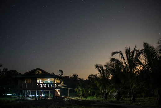 Playa Verde Remote Outpost at night