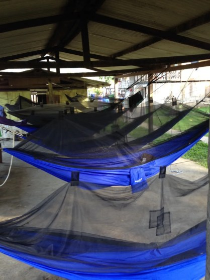 Hammocks Hung for Overnight Clinic