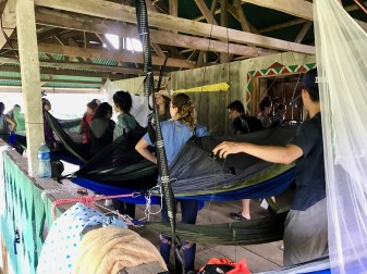 Getting Hammocks Set Up During Remote Deployment