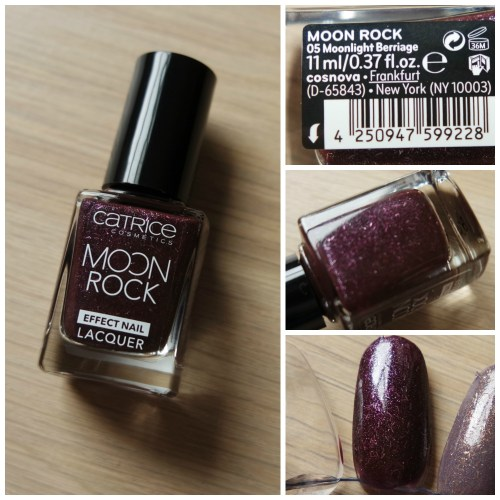 Catrice Moon Rock Effect Nail Lacquer 05 Moonlight Berriage
