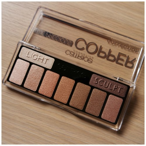 Catrice The Precious Copper Collection eyeshadow palette review swatch 010 Metallux