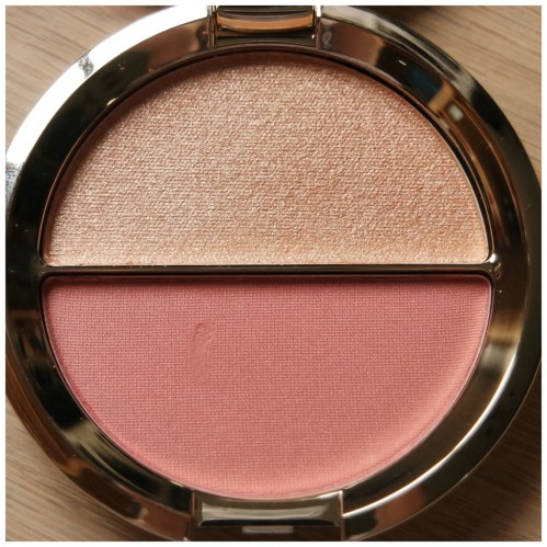 Becca highlighter blush shimmer skin perfector mineral blush duo champagne splits champagne pop flower child review swatch