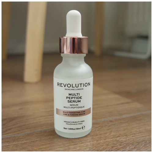make up revolution multi peptide serum skincare review fair skin dry skin sensitive skin application swatch