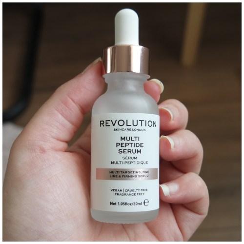 make up revolution multi peptide serum skincare review fair skin dry skin sensitive skin application swatch