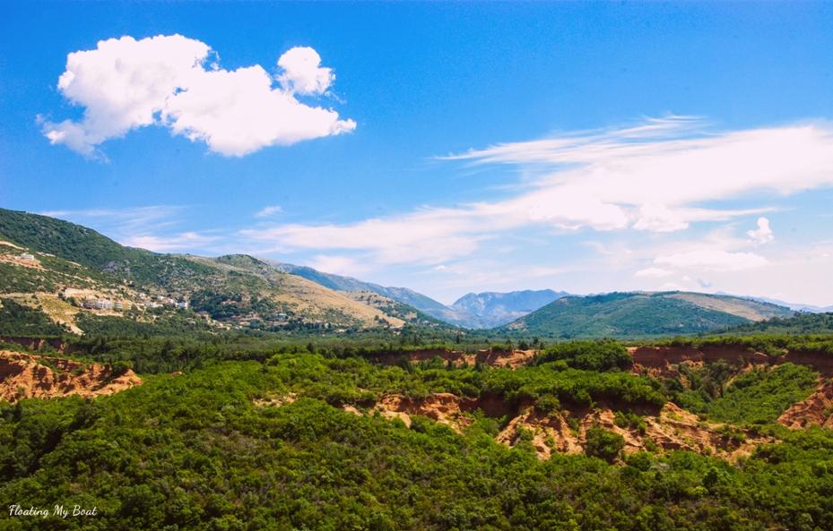 albanian mountains gjipe canyon