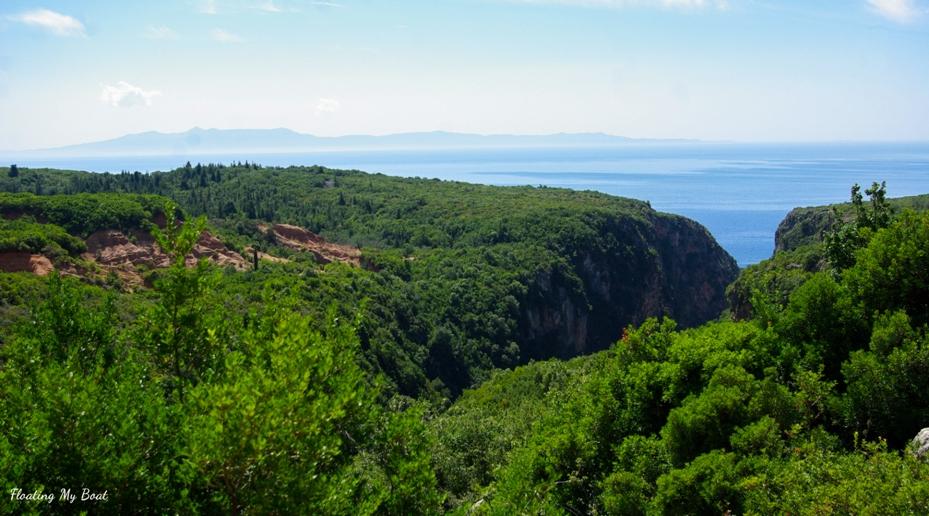 Gjipe beach canyon