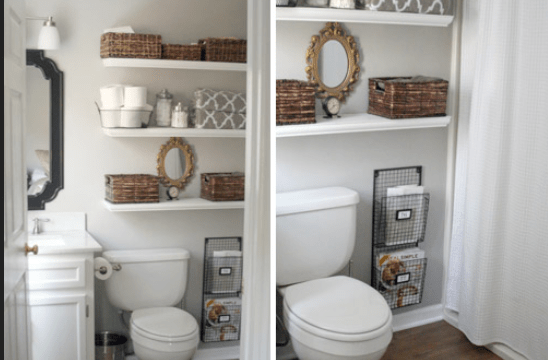 floating shelves ideas for the bathroom ← floating shelf