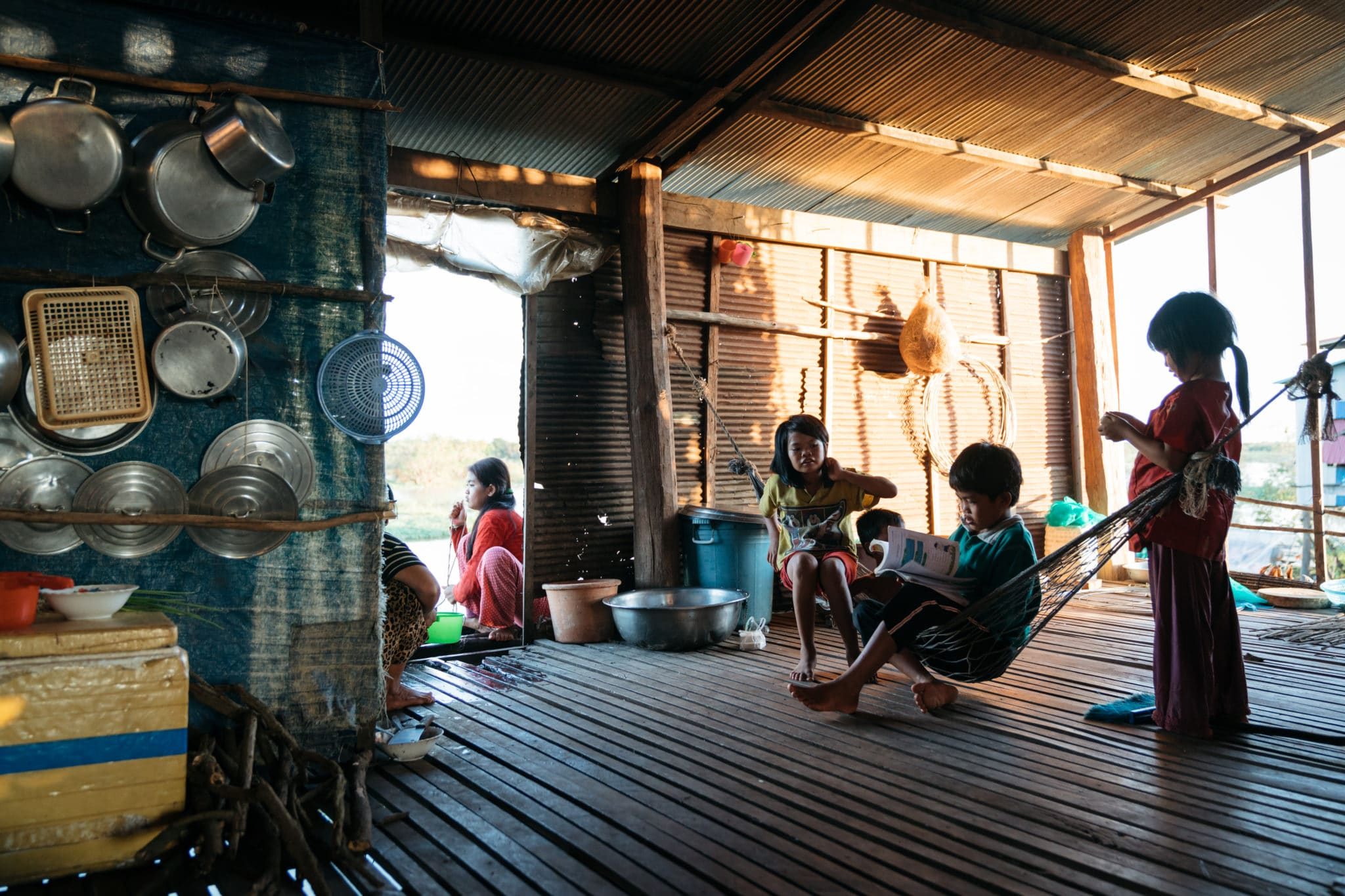 Children in Floating Village
