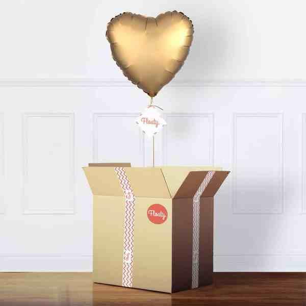 Herzluftballon satin gold