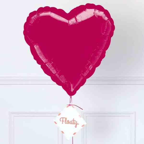 Herzluftballon Pink Zoom