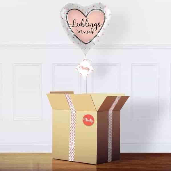 Lieblingsmensch Luftballon im Karton