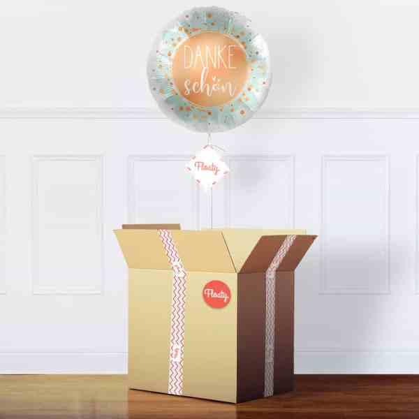 Dankeschön Luftballon im Karton