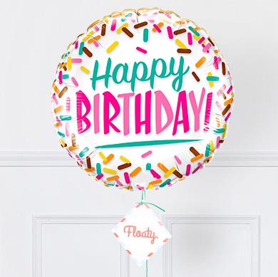 Geburtstagsballon Sprinkles zoom