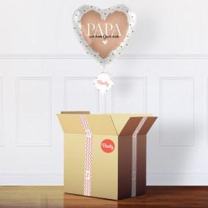 Geschenk für Papas im Karton