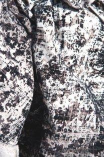 Tessuto in cotone floccato